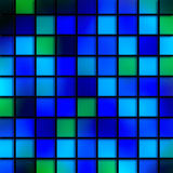 Blue Aqua Tiles. Digitally created stained glass blue aqua bathroom tile pattern Royalty Free Illustration