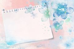 Blue, Aqua, Watercolor Paint, Sky stock image