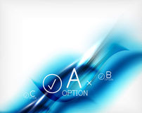 Blue aqua wave designed business poster Royalty Free Stock Photo