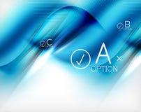 Blue aqua wave designed business poster Royalty Free Stock Image