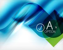 Blue aqua wave designed business poster Royalty Free Stock Photography