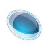 Blue Aquabutton Royalty Free Stock Images