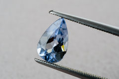 Blue aquamarine beryl Stock Photography