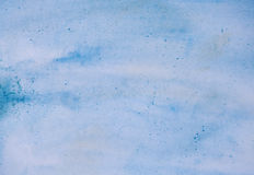 Blue aquarelle background. Blue dirty aquarelle background painting Royalty Free Stock Photos