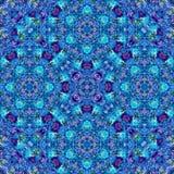 Blue arabesque kaleidoscope mosaic. Blue arabesque bright kaleidoscope mosaic Royalty Free Stock Image