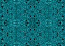 Seamless Arabesque Jars Background Texture. Blue arabesque paths damask background. Seamless tile with shapes similar to ancient jade jars Stock Image