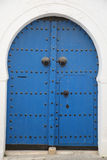 Blue arabic door Stock Photos