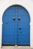 Blue arabic door Stock Photos