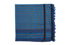 Blue arabic scarf isolated on white background. The blue arabic scarf isolated on white background Royalty Free Stock Photo