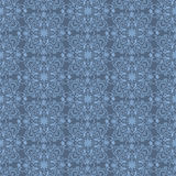 Blue arabic seamless wallpaper Stock Photos
