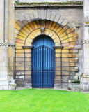 Blue Arch Doorway at the Ely Cathedral Stock Photo