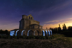 Blue arch. Hermitage with blue arches at night Royalty Free Stock Photo