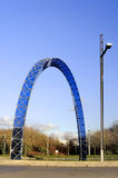 Blue arch on a roundabout Stock Photos