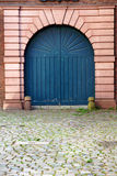 Blue arched door royalty free stock photo