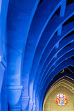 Blue Arches and Round Stained Glass Royalty Free Stock Photo