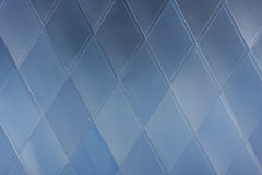 Blue architecture abstract - geometrical pattern Stock Photography