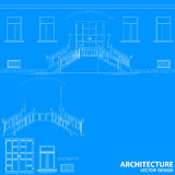 Blue architecture background Royalty Free Stock Image
