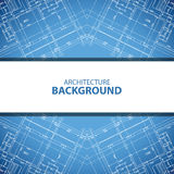 Blue architecture background Stock Photography