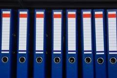 Blue archive folders Stock Photos