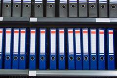 Blue archive folders Stock Photo