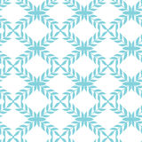 Blue argyle leaves seamless pattern background Royalty Free Stock Images