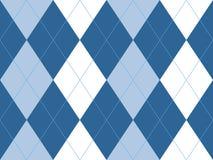 Blue argyle seamless pattern. Flat design. Vector illustration Stock Photography