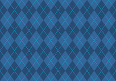 Blue argyle wallpaper vector illustration