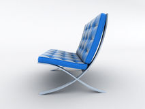 Blue armchair Royalty Free Stock Images