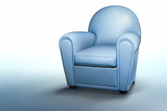 Blue armchair Royalty Free Stock Photography