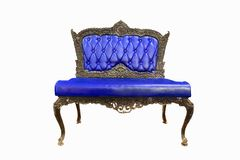 Blue armchair isolated on white background Royalty Free Stock Photo
