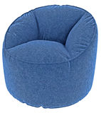 Blue armchair Stock Images
