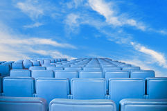 Blue armchairs group. Stock Image