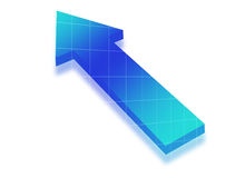 Blue arrow Stock Image