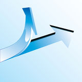 Blue arrow Stock Photography
