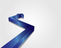 Blue Arrow. This image is a vector file representing a 3d blue arrow,  all the elements can be scaled to any size without loss of resolution Royalty Free Stock Photo