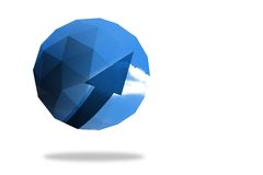 Blue arrow on abstract screen Royalty Free Stock Image