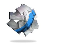 Blue arrow on abstract screen Royalty Free Stock Images