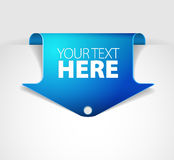 Blue arrow bookmark Royalty Free Stock Photo