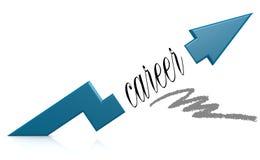 Blue arrow with career word Royalty Free Stock Photos