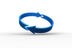 Blue arrow circle Royalty Free Stock Photo