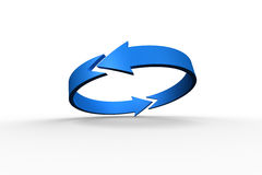 Blue arrow circle Royalty Free Stock Images