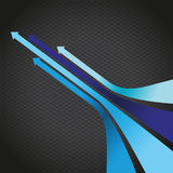 Blue arrow line background Royalty Free Stock Photos