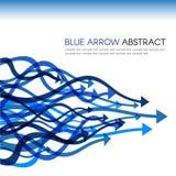 Blue arrow line curve sharp vector abstract background Stock Photos