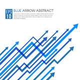 Blue arrow line up sharp vector abstract background Stock Photos