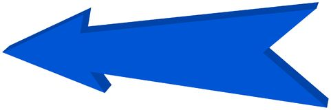 Blue arrow pointed - 3D Illustration. Blue arrow pointed, it`s a illustration Royalty Free Stock Photos
