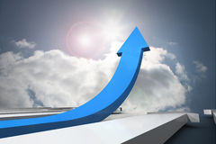 Blue arrow pointing up Royalty Free Stock Photos