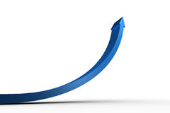 Blue arrow pointing up Stock Photo