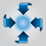 Blue arrow presentation brochure Stock Photography