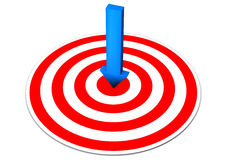 Blue Arrow Red Target Stock Photography