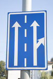 Blue Arrow Traffic Direction Sign Royalty Free Stock Photography